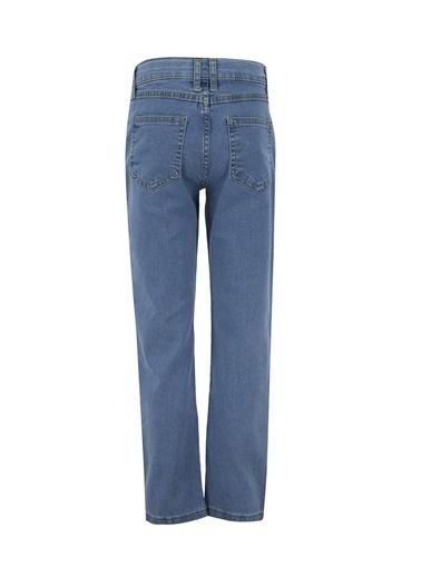 DeFacto Erkek Çocuk Slim Fit Yırtık jean Pantolon Mavi